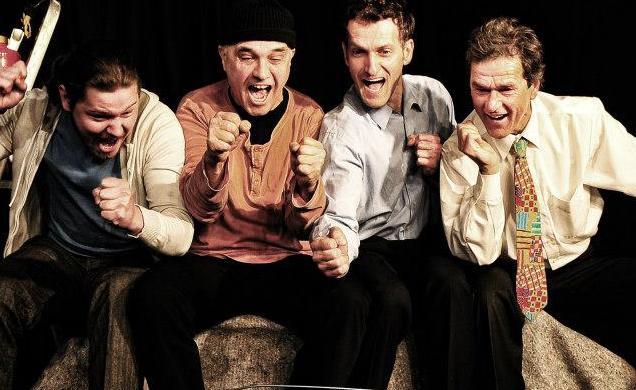 Im Männerhort: Timo Schmidt, Heinz Koch, Thomas Weppel, Richard Aigner (von Links)